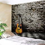 XINYI Home Wall Hanging Nature Art Polyester Fabric Marble Wall Theme Tapestry, Wall Decor For Dorm Room, Bedroom, Living Room, Nail Included - 90'' W x 71'' L (230cmx180cm) - Wall & Guitar