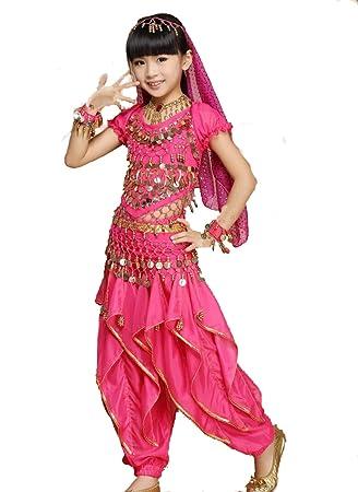 ZYLL NiñOs De Danza India De 4 Piezas, Trajes De Baile De ...