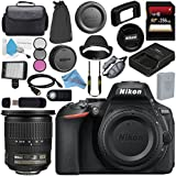 Nikon D5600 DSLR Camera (Body Only) (Black) 1575 AF-S DX 10-24mm ED Lens 2181 + 256GB SDXC Card + Card Reader + Professional 160 LED Video Light Studio Series Bundle