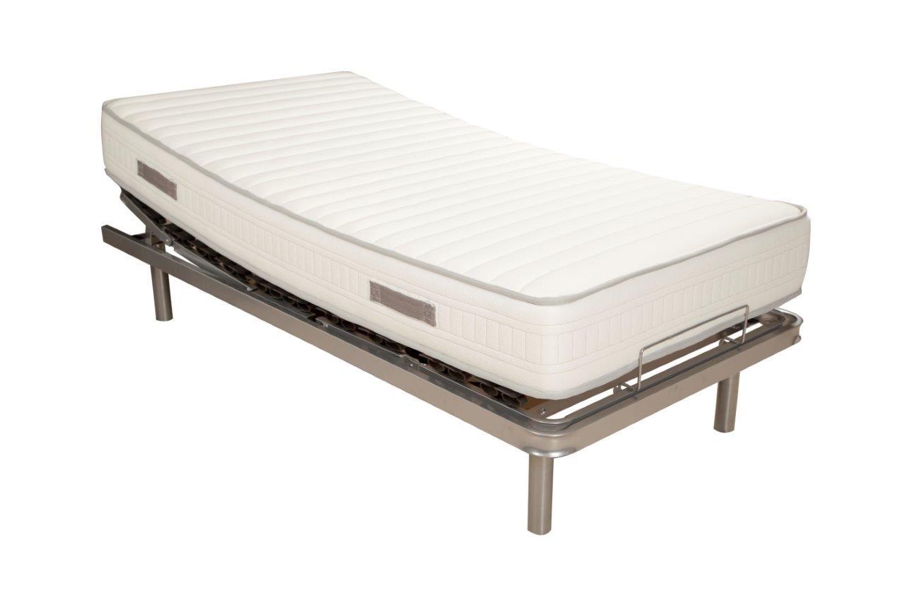 PACK Cama articulada eléctrica + colchón viscoelástica 90x190cms ...
