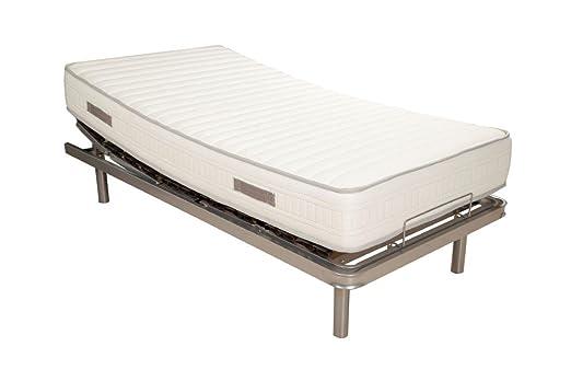 PACK Cama articulada eléctrica + colchón viscoelástica 90x190cms: Amazon.es: Hogar