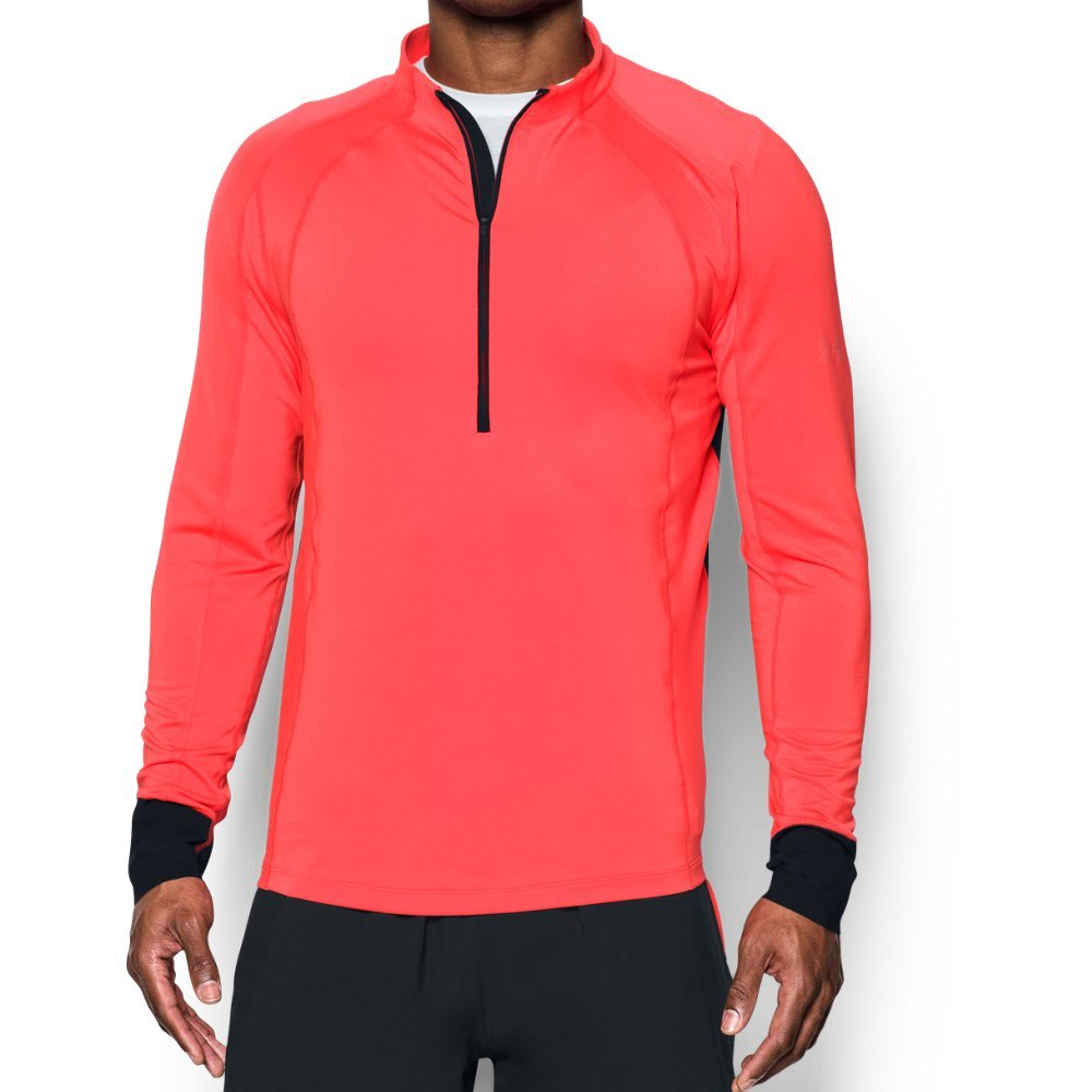 Under Armour Men's ColdGear Reactor Run ½ Zip,Marathon Red (963)/Reflective, Medium