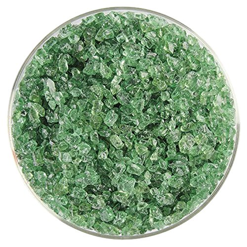 Light Green Glass Eyes - Light Mineral Green Transparent Coarse Frit - 4oz - 90COE - Made From Bullseye Glass