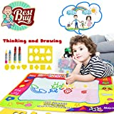 Aqua Doodle Doodle Mat Magic Water Drawing Mat In 4 Colors With 4 Water Pens And 8 Molds Best Kids Boys Girls Toddler Toys Gift For 2 3 4 5 6 Year Old