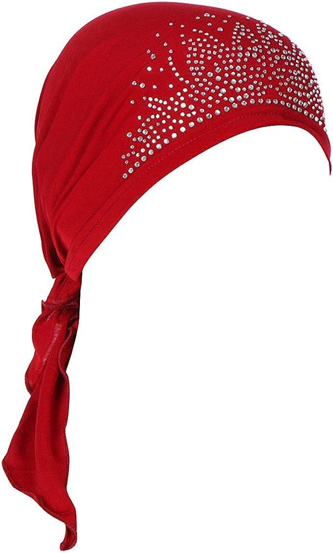 JPOQW Turban Chemo Hat Tie-dye Curved Cloth Hat Muslim Headgear