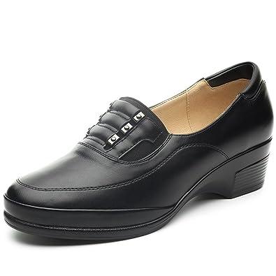 Mocasines Planos Negros para Mujer – Cestfini Los cómodos Zapatos de cuña para Mujer, Hechos