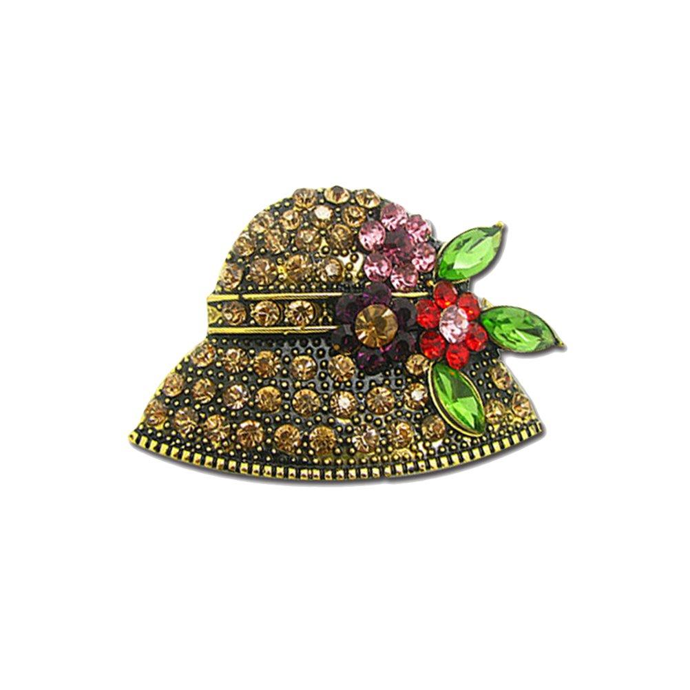 OULII Broches de Perlas Elegante Material de Aleación Decoraciones de Ropas Reglo Ideal para Día de Madre para Mujeres Niñas (Sombrero) 43909JP17Q03UR2Q5RC4