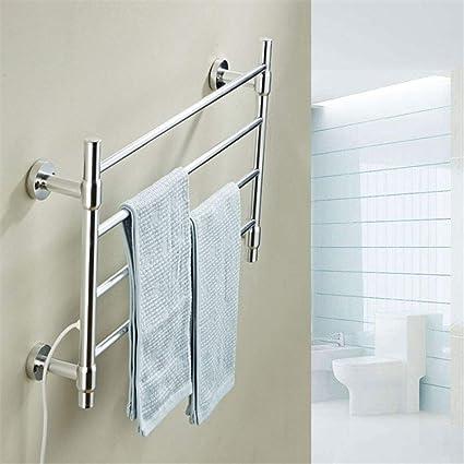 GLgl Cuarto de baño Radiador montado en la Pared eléctrica climatizada toallero termostático bajo Consumo de