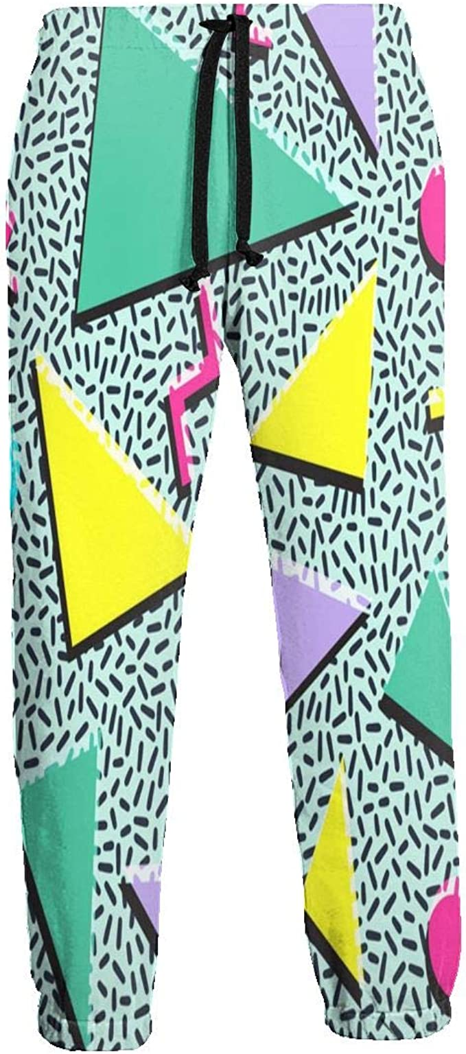 LDDDP Funky 90s Patterns Retro Vintage 80S 90S - Pantalones de ...