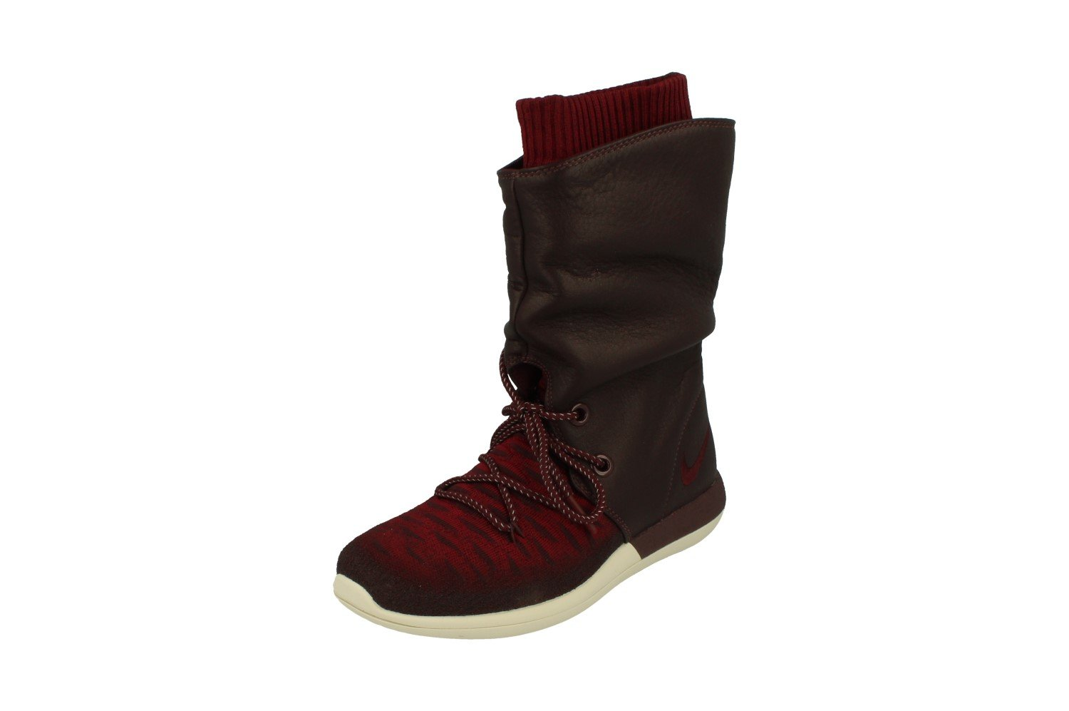 NIKE Womens Roshe Two Hi Flyknit Trainers 861708 Sneakers Boots B01M6WYK6J 10.5 B(M) US|Deep Burgundy 600