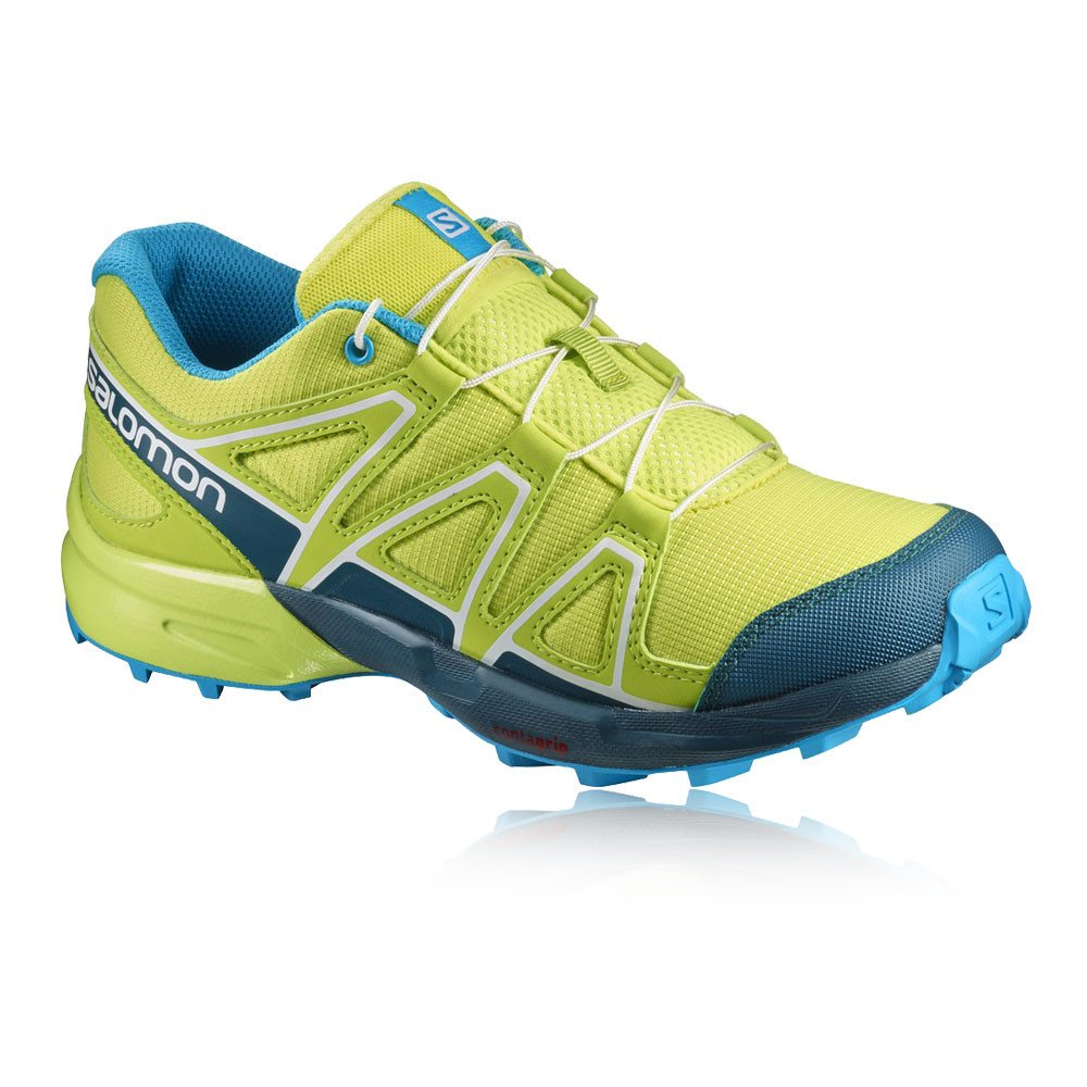 Salomon Speedcross K, Zapatillas Unisex Bebé, Azul (Surf The Web/Cloisonné/Green Flash), 29 EU
