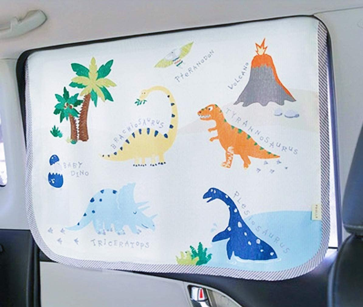 White Giraffe Litto Kiddo Car Sun Shade Curtain Magnetic Window Cover for Baby Kids Children Sunshade Protector Protects from Sun Heat Blocks UV Rays Glare Car Interior Sun Blocker Blind