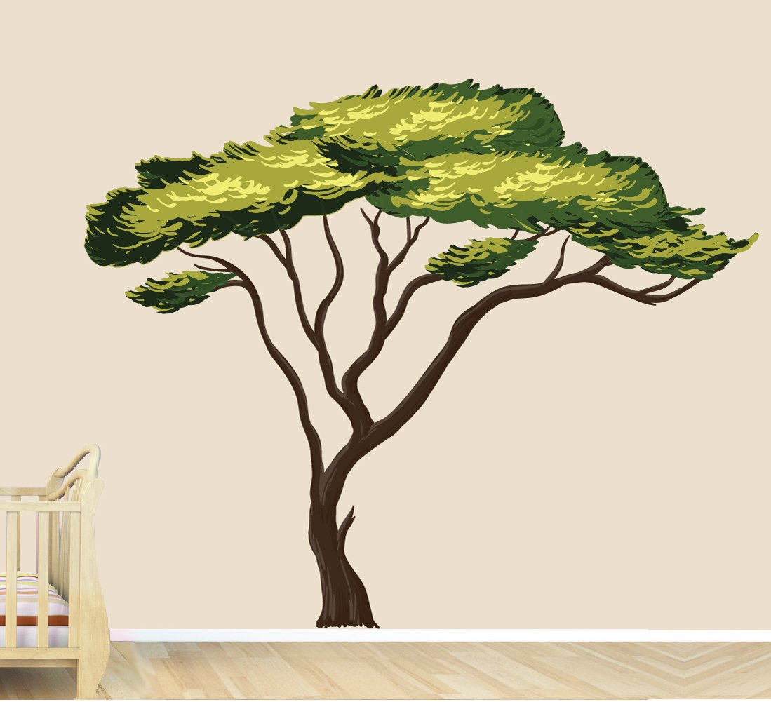 Safari Tree Decal, African Tree Decal, Jungle Stickers