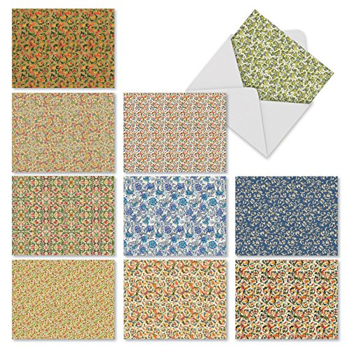 Florentine Print - M10026BK Florentine Florals: 10 Assorted Blank All-Occasion Note Cards Feature Ornate Designs from the Italian Renaissance,w/White Envelopes.