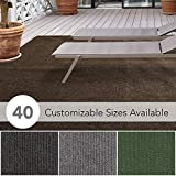 iCustomRug Affordable Indoor/Outdoor Carpet with Marine Backing, Many Carpet Flooring for Patio, Porch, Deck, Boat, Basement or Garage 12' X 16' in Brown