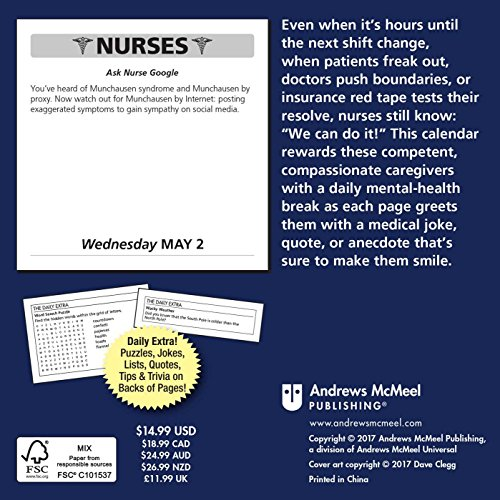 Nurses 2018 Day-to-Day Calendar: Jokes, Quotes, and ...