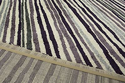 Modern Berry Purple Mottled Striped Living Room Area Rugs - Bombay 5 Sizes Available