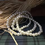 Faux pearls x2 small beats for decorations, props for holloween and fancy dress parties