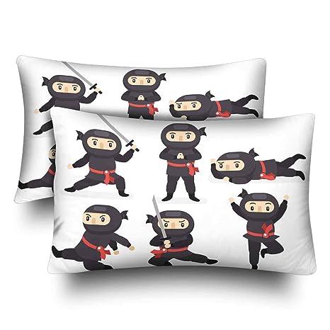 Amazon.com: InterestPrint Pillow Covers Case Standard Size ...