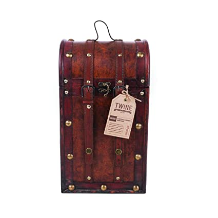 Bar Tools & Accessories Liquor Wine Two Bottle Wooden Cart Case Oriental Style Kitchen, Dining & Bar