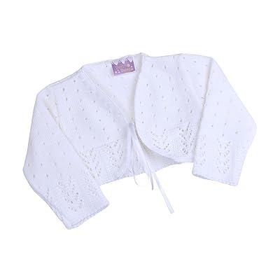 BabyPrem Baby Cardigan Bolero Girls Clothes White Pink Knitted WHITE 18-24 MONTHS