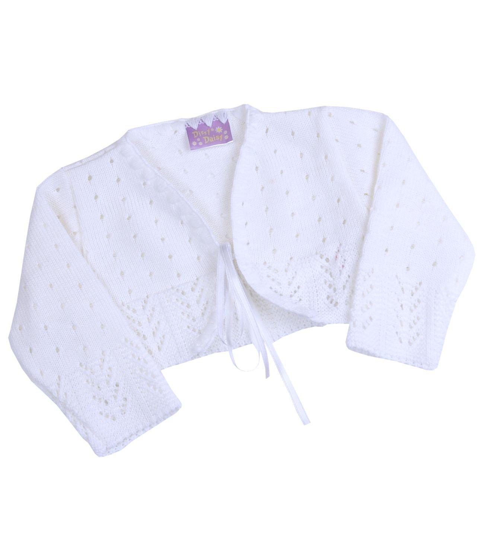 BabyPrem bébé Cardigan Bolero Filles Vêtements Blanc Rose Tricoté 0-24 mois BEE021