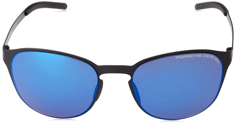 silver mirrored Eyeglasses Porsche Design P 8666 A V 279 E 88 black//blue