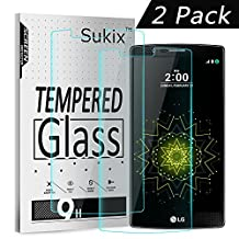 Sukix LG G4 Screen Protector 2-Pack Tempered Glass Protective Screen Film Protectors for LG G4 [Lifetime Warranty]