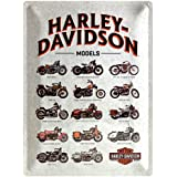 Nostalgic Art 40361132323 Cartello Harley-Davidson-Model Chart, Acciaio, Beige, 40 x 30 x 0.2 cm
