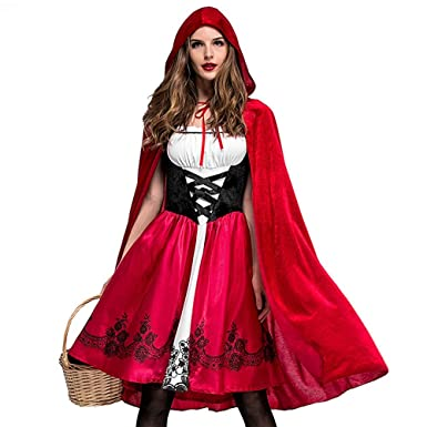 ZHMEI Cosplay Vestido de Disfraz de Halloween para Mujer Cosplay ...