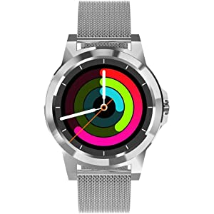 Amazon.com: Stainless Steel Luxury High-Tech Smartwatch ...