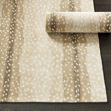 Ballard Designs 5 X 8 Antelope Animal Traditional Persian 100  Wool Rugs   Carpet