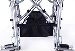 Fushida Walker Under Seat Bag, Foldable Wheelchair Underneath Carrier, Rollator Basket, Scooter Storage Food Accessory and Loose Items for Disabled Elderly (FGJ253)