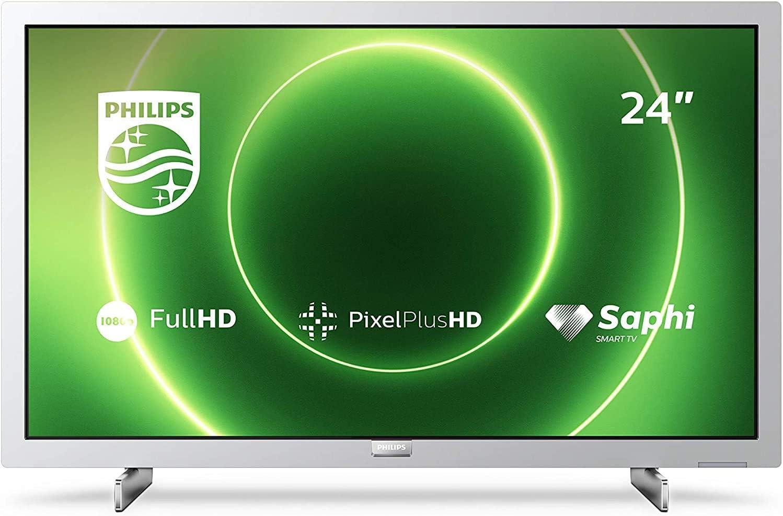 Philips 24PFS6855/12 Televisor 24 pulgadas LED ,Full HD, HDR 10, Pixel Plus HD, Smart TV, DTS-HD, HDMI,modelo 2020/2021, Plateado claro , 60 cm