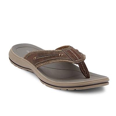 Dockers Men's Compton Flip Flop, Dark Brown, 7 M US | Sandals
