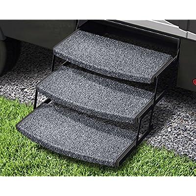 Prest-O-Fit 3-Pack 2-4050 Wraparound Radius RV Step Rug Stone Gray 22 in. Wide: Automotive