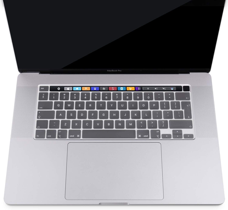 Piel de Silicona Protectora MOSISO Cubierta de Teclado Compatible con 2020 MacBook Pro 13 Pulgadas A2251 A2289//2019 MacBook Pro 16 Pulgadas A2141 con Touch ID /& Pantalla Retina Negro