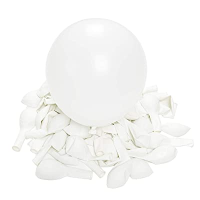 Jannius White Balloons Party Balloons 5 Inches 50 PCS White Color Party Balloons Latex Balloons Birthday Balloons for Party