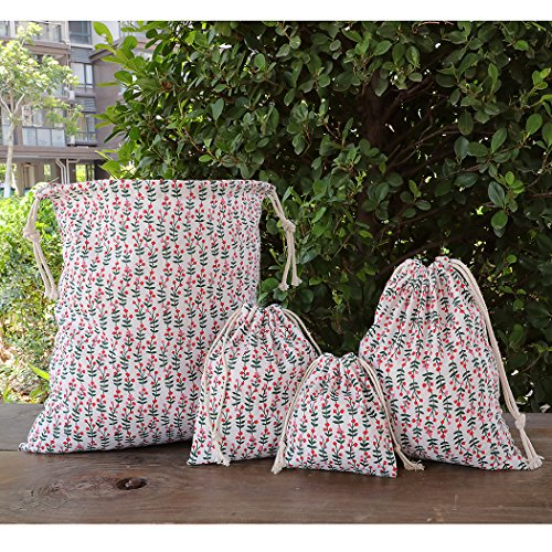 Drawstring Kid Amoyie Laundry 4 Bag Reusable Pieces for Clothes Bag Storage 4vHwrXqv