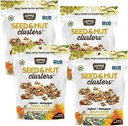 Hippie Snacks Organic Seed & Nut Clusters – Crispy Onion, 4 x 80 gram pack