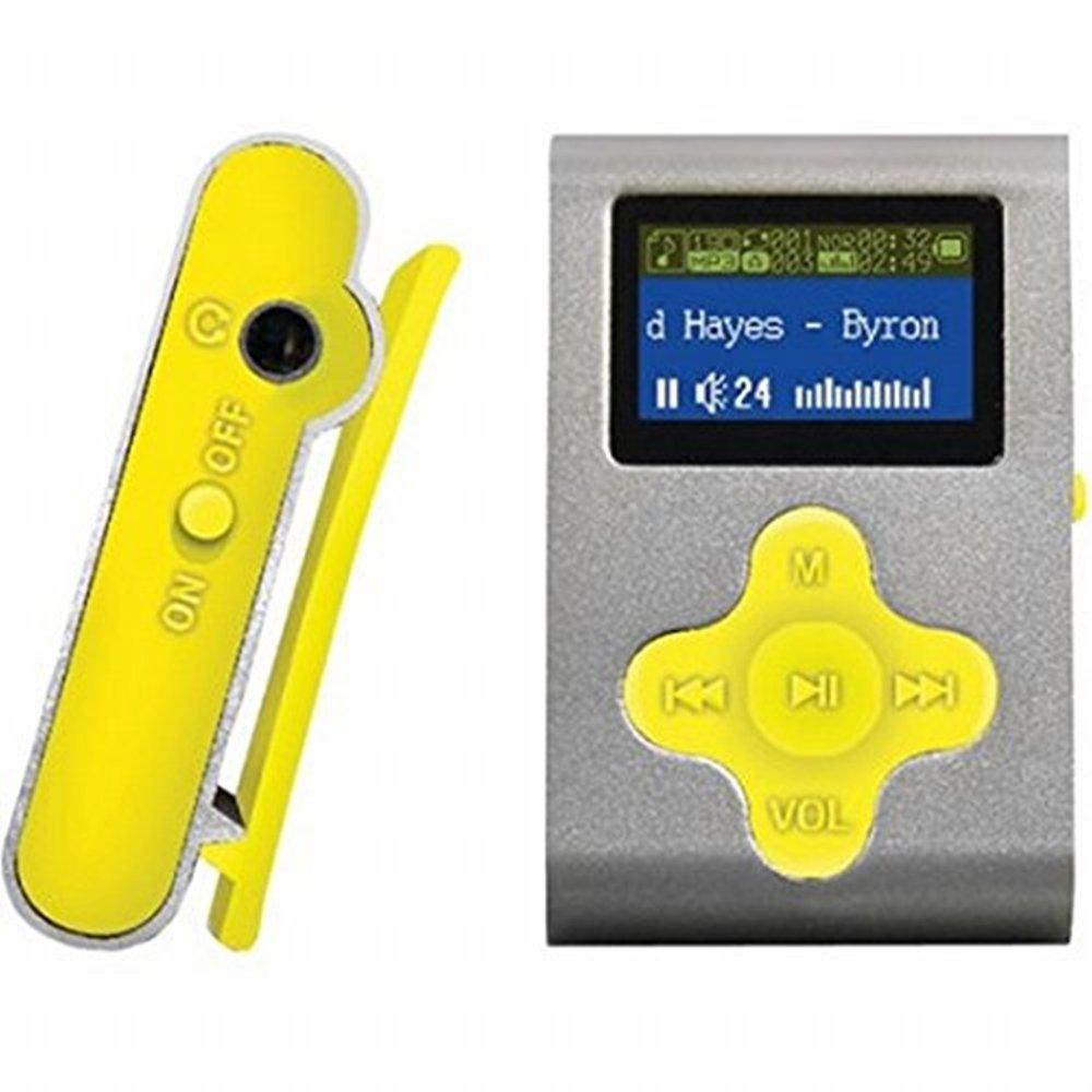 """Amazon.com : ECLIPSE Eclipse Fit Clip SL/YW 4GB 1"""" MP3 Player  (Silver/Yellow) : Camera & Photo"""