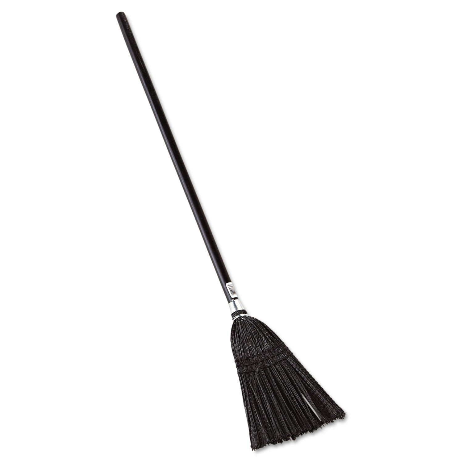 Rubbermaid Commercial Lobby Pro Synthetic-Fill Broom, 37 1/2quot; Handle, Black