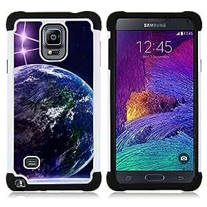 - Space Planet Galaxy Stars 70/ H??brido 3in1 Deluxe Impreso duro Soft Alto Impacto caja de la armadura Defender - SHIMIN CAO - For Samsung Galaxy Note 4 SM-N910 N910