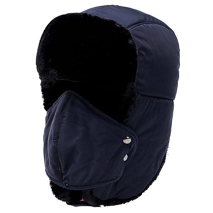 Yooeen Unisex Sombrero de Bombardero Trooper Trapper Sombrero de Esquí Con orejera y máscara a prueba de viento Hombres Mujeres,…