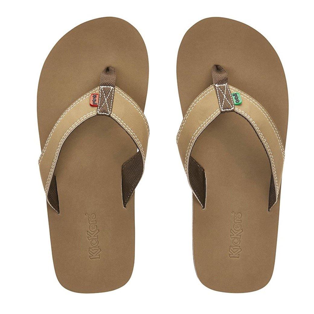 2da3ba661f847 Kickers Kick Back Summer Indoor Beach Flip Flop Slipper (Brown, Small, 5-6  UK): Amazon.co.uk: Shoes & Bags
