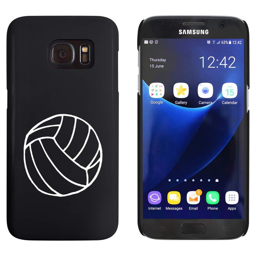 Azeeda Negro 'Voleibol' Funda / Carcasa para Samsung Galaxy S7 (MC00021347)
