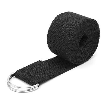 SCASTOE Sport Yoga Stretch Strap D-Ring Belts Gym Waist Leg Fitness Training Adjustable
