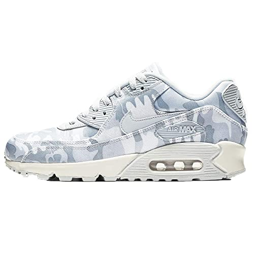 Nike Women's Air Max 90 CSE Camouflage Print Sneakers, Pure PlatinumSummit WhiteWolf Grey