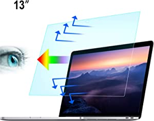 2-Pack Blue Light Blocking Screen Protector, Anti Blue Light Filter for 2018-2020 MacBook Air 13-inch with Touch ID Model A1932 A2179