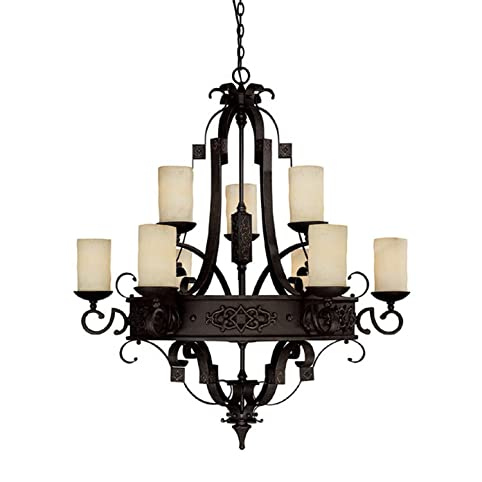 capital lighting 3609ri 125 chandelier with rust scavo glass shades